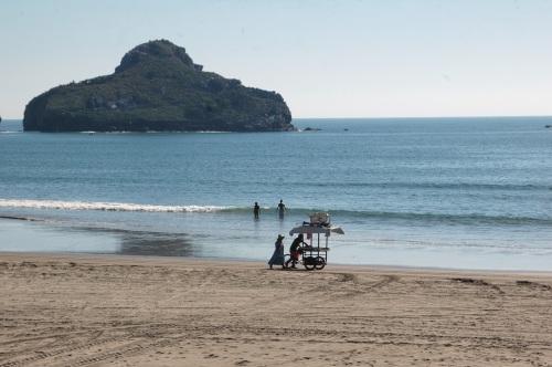 This is the beach at Isla la Piedra, or Stone Island, Mazatlan, Mexico
